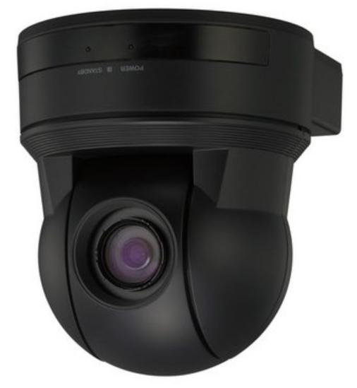 18x SD Pan-Tilt Zoom Color Video Camera in Black