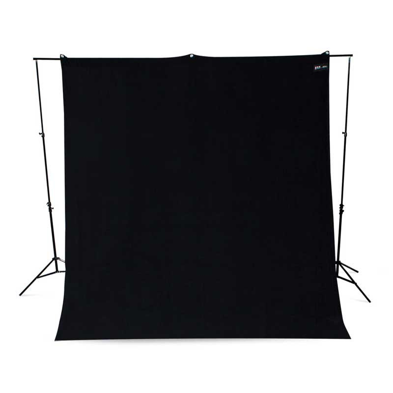 9x10 Black Backdrop, Wrinkle-Resistant