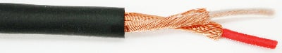 25 AWG Two-Conductor, Indvid. Shielded Bulk Mic Cable (656 ft., Black)