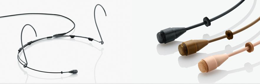 Beige Omnidirectional Adjustable Headset Microphone with Shure Adapter
