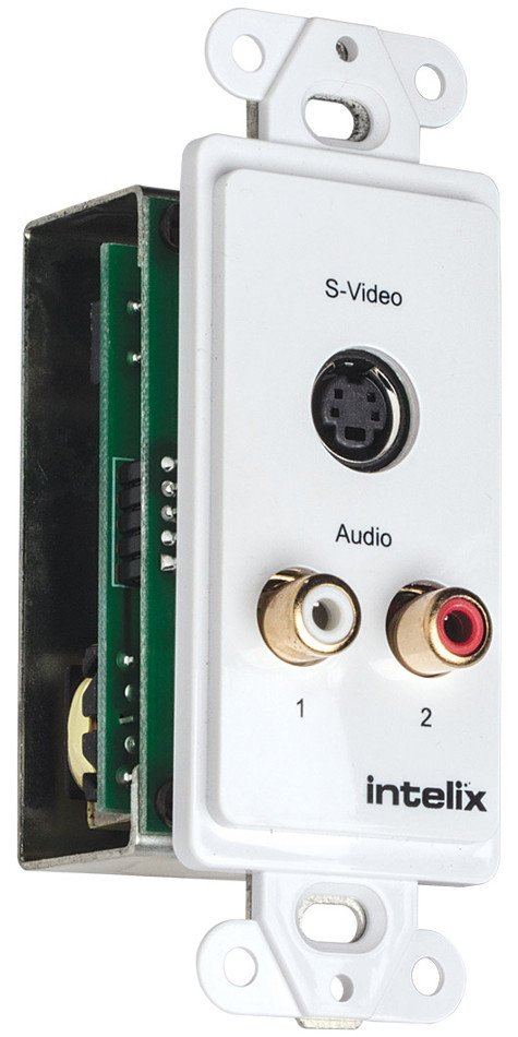 Single S-Video and Stereo Analog Audio Wall Plate