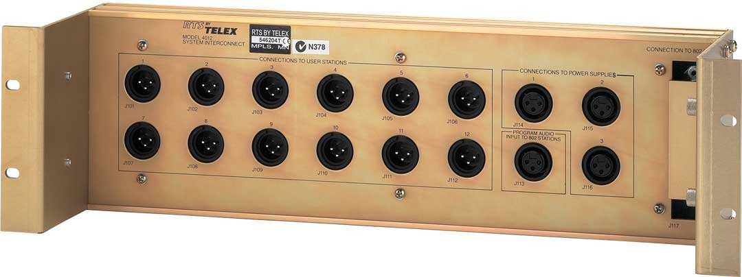 System Interconnect, 50-pin to 3-pin Connector Translation Assembly for RTS 800, 810 Series Intercom Stations