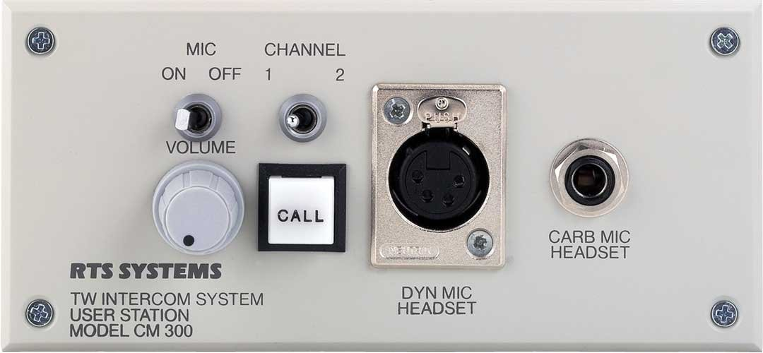 Console Mount 2-Channel Intercom User Station with A4F Headphone Connector