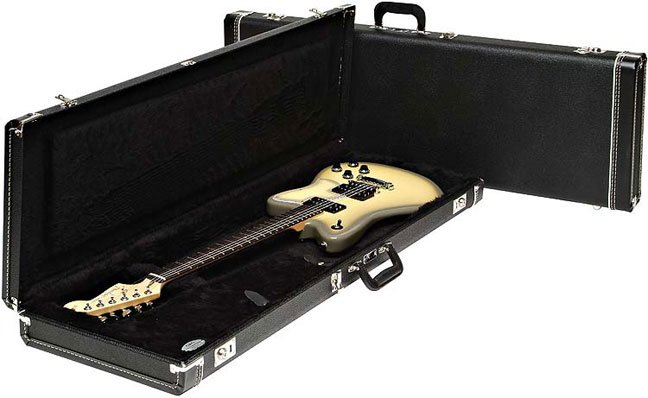 Fender 099-6101-306 Hardshell Stratocaster®/Telecaster® Electric Guitar Case in Black 099-6101-306