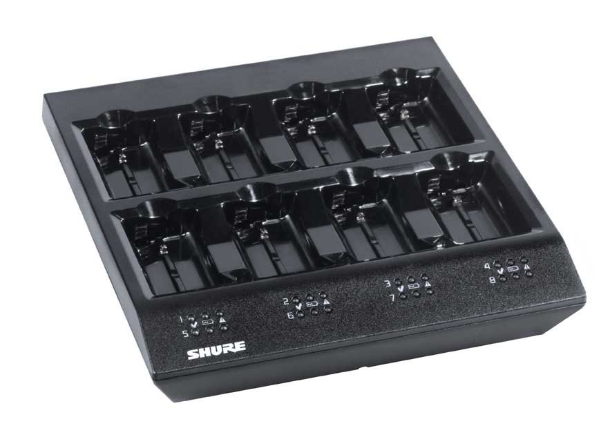 Shure Sbc800 Us 8 Bay Charger For Sb900 Battery Full