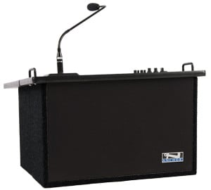 Acclaim Tabletop Lectern in Black with 1 Wireless Receiver