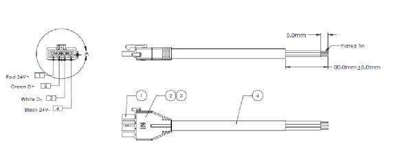 6.5` Vaya Power/Data Cable