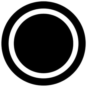 Black & White Circle Outline Gobo
