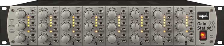 Eight Channel Microphone and Instrument Preamplifier