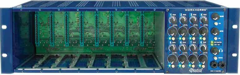 8-Slot 500 Series Module Rack with 8-Channel Mixer