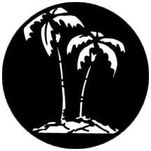Tropical Tree Steel Gobo