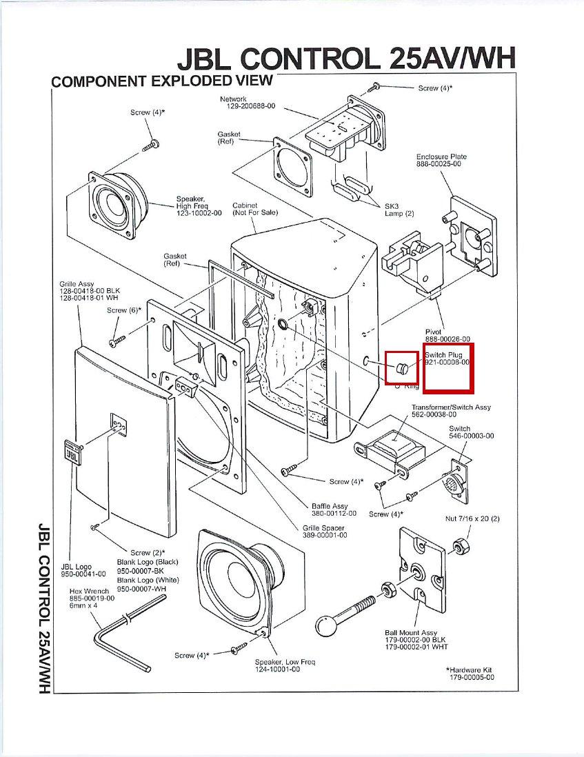 JBL Control Speaker Switch Plug