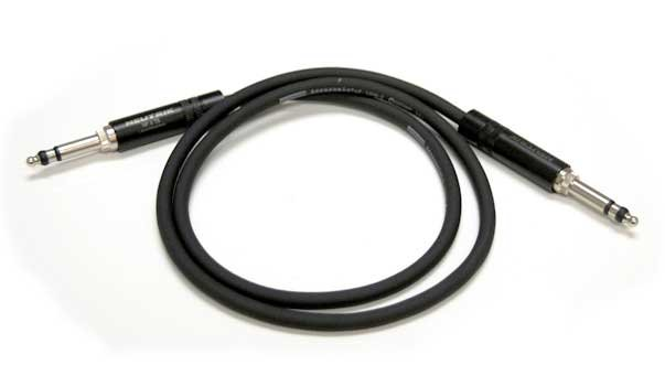 LF Series Patch Cable, 2-Conductor Black