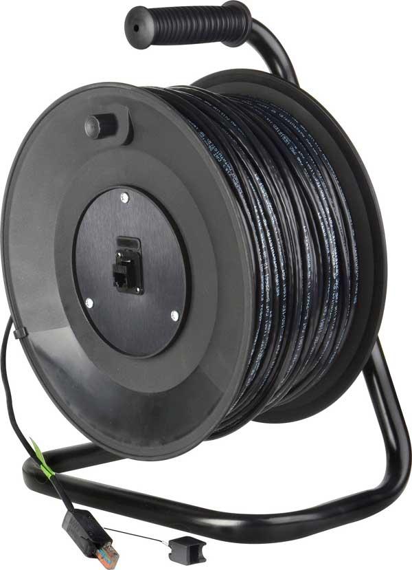 TecNec MKR-12-250PS  Jackreel Deluxe, Belden 1583 CAT5, ProShell RJ45 Connectors, 250ft MKR-12-250PS
