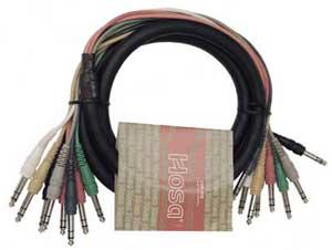 "Hosa CSS-801 8-Channel Snake, Balanced 1/4"" Male to Balanced 1/4"" Male, 3.3 Feet CSS801"