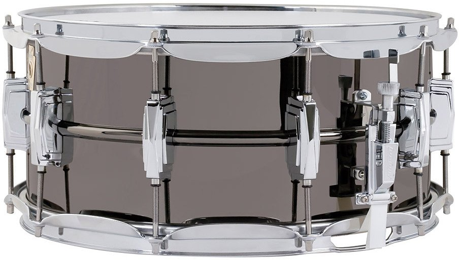 "Ludwig Drums LB417 6.5""x14"" Black Beauty Brass Snare Drum iin Black Nickel Finish LB417"