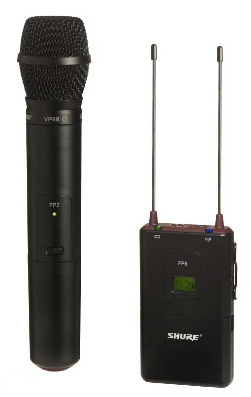 Shure FP25/VP68-H5 FP Wireless Microphone System with the VP68, 518-542 FP25/VP68-H5