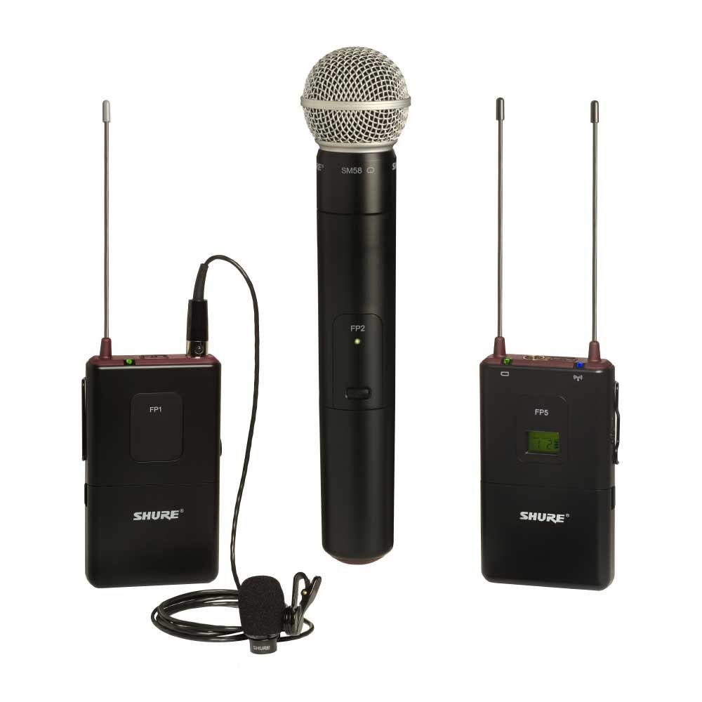 FP Bodypack/Handheld Wireless System with WL183 and SM58, 638-662