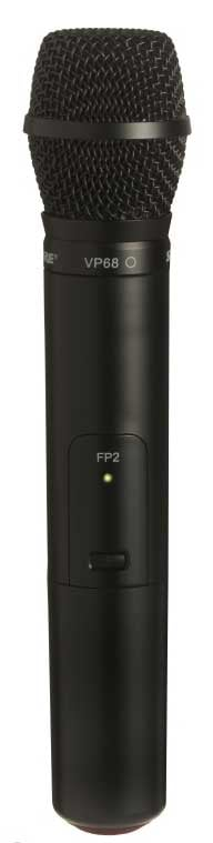 Handheld Wireless Transmitter with VP68 Microphone Capsule, J3 Band (572-596 MHz)