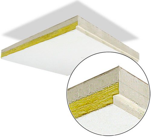 "Four 24""x48"" Sound Controlling Ceiling Tiles with Reveal Edge (32 sq. ft. Coverage)"