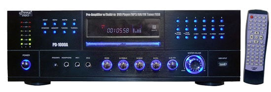 PreAmp, 1000W, with DVD/ Receiver