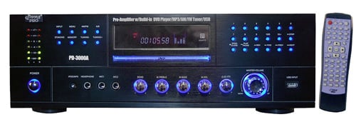 Amp, 3000W DVD Receiver