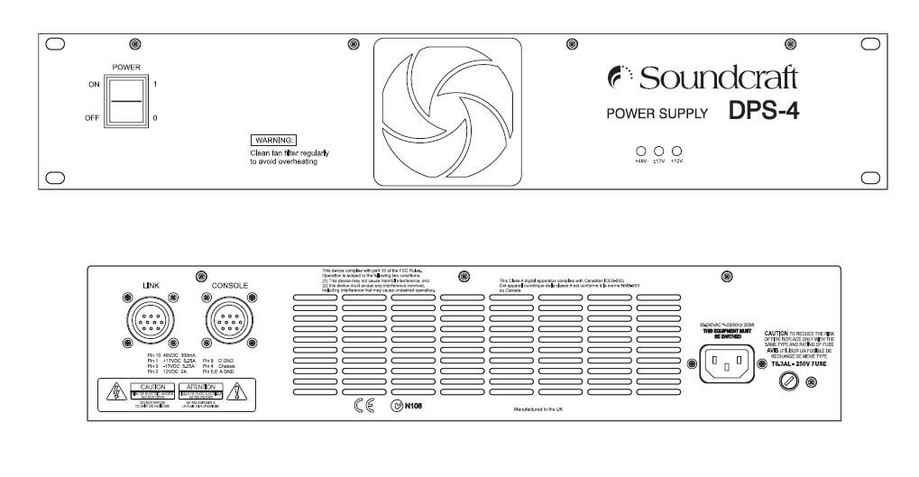 Soundcraft DPS4-RW8033 Spare External PSU with DC Cable DPS4-RW8033