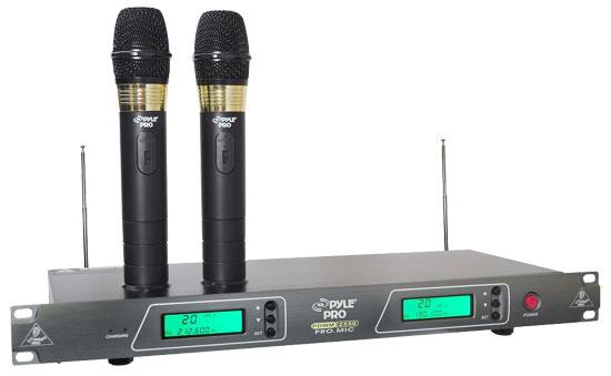 Rackmount Dual VHF Wireless Handheld System