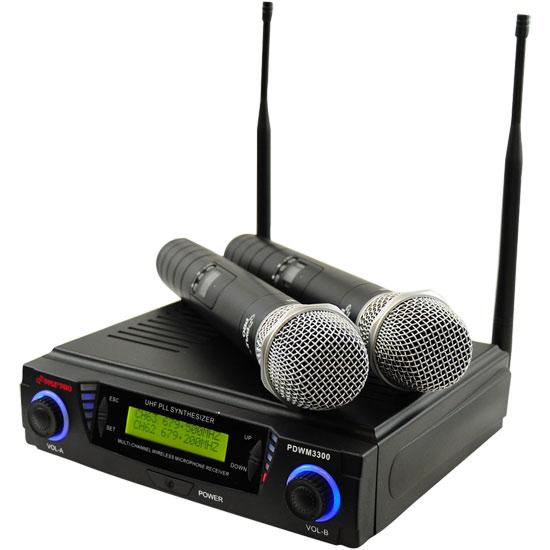 Dual Wireless UHF Microphone