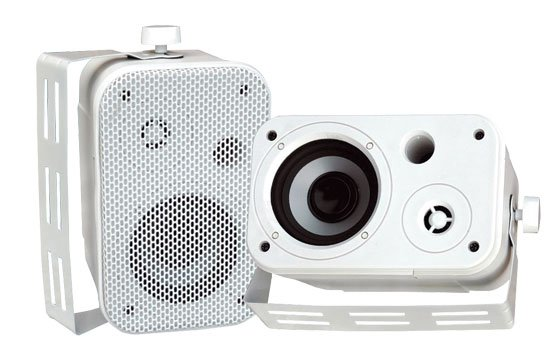 "Pair of 3.5"" Outdoor Speakers in White"