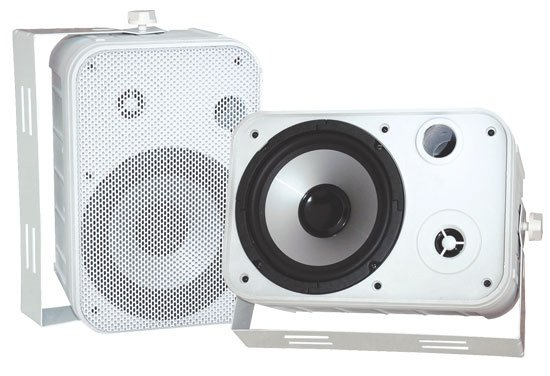 "Pyle Pro PDWR50W Pair of 6.5"" Outdoor Speakers in White PDWR50W"