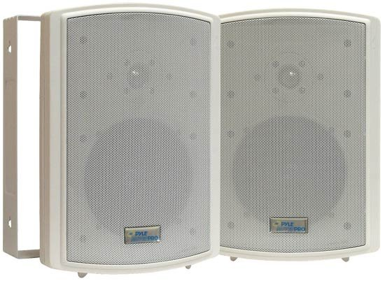 "Pair of 6.5"" Indoor/ Outdoor Speakers in White"