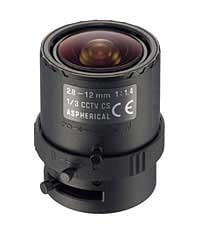 2.8-12mm Manual Iris Lens, Varifocal, CCTV