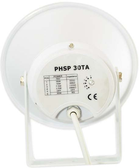 """9.4"""" 30W Indoor/Outdoor 70 Volt PA Horn Speaker"""