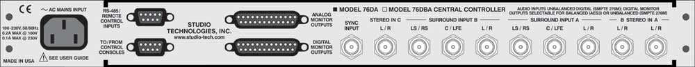 Surround Monitoring Central Controller, Version 4