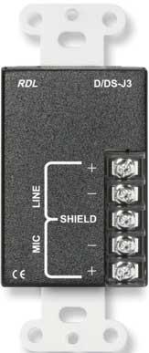 Mic (XLR)/Line (RCA) Wall Plate Audio Input Assembly