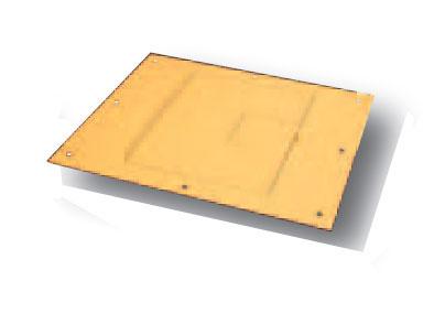 Cover for FL-500P Floor Box, Lt Oak Sandtex