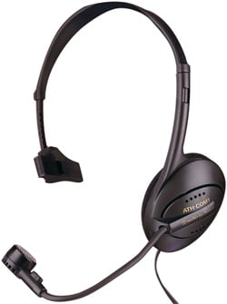 Monophone/Dynamic Boom Microphone Combination Headset
