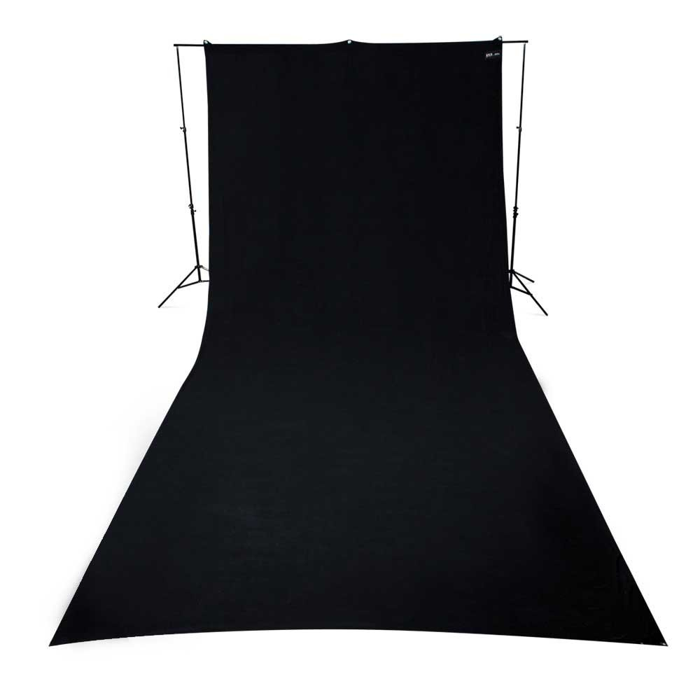 9ft x 20ft Wrinkle-Resistant Cotton Backdrop in Black