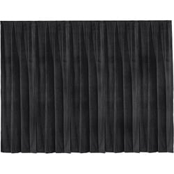 16' x 13' Black Ultra Velour Drapery Panel