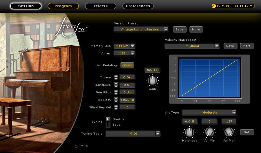 Upright Piano Virtual Instrument (RTAS, VST, AU)