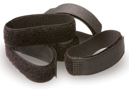 "5-Pack of 8"" Black Velcro Cable Wrappers"