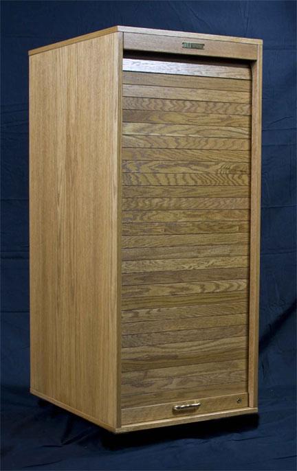 16 Space Equipment Rack, Wood Cabinet