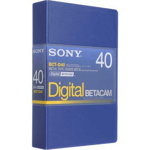 Digital Betacam, 40min., Small