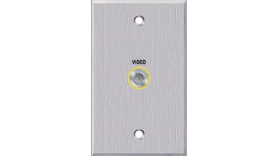 Single Gang 1 BNC Connector Passthrough Wall Plate
