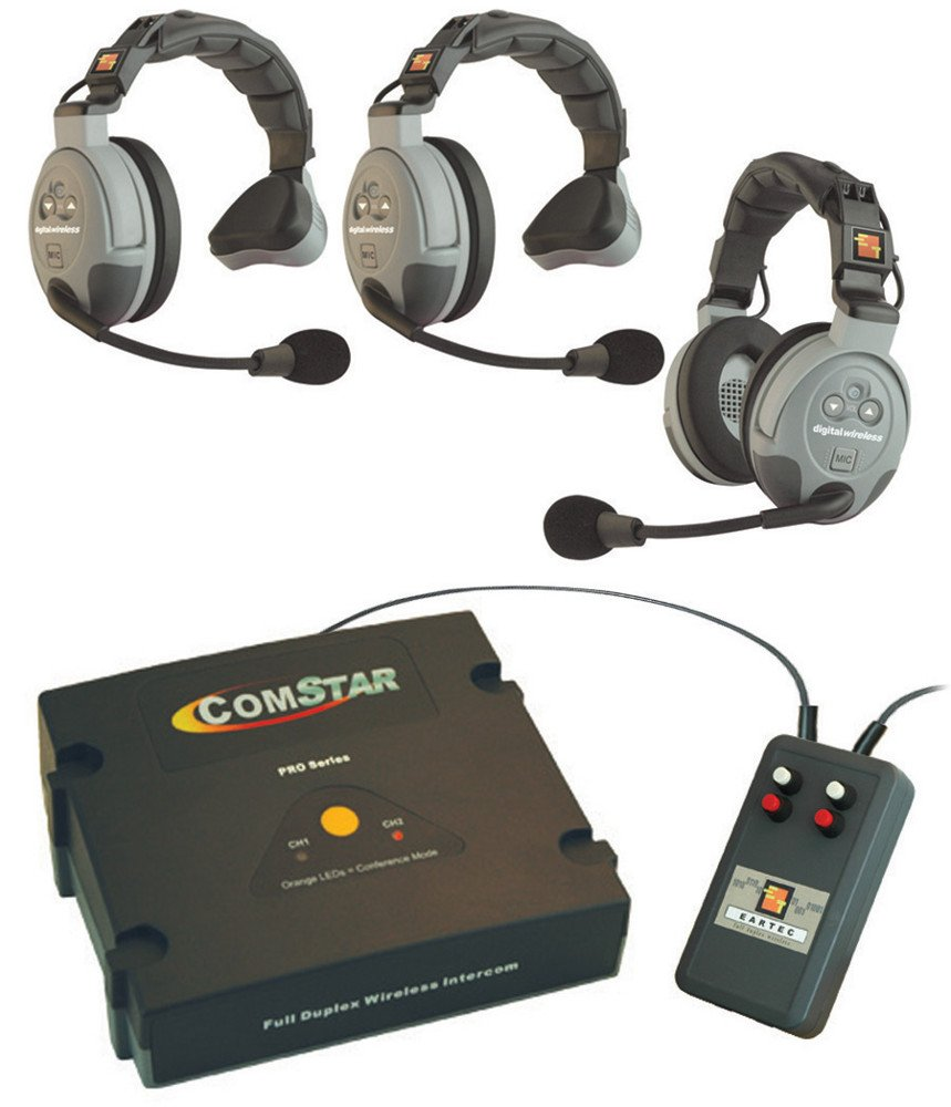 XT-Plus Com-Center with Interface and 3 Headsets