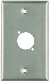 Plateworks Single-Gang Black Anodized Aluminum Wall Plate with 1x D-Hole