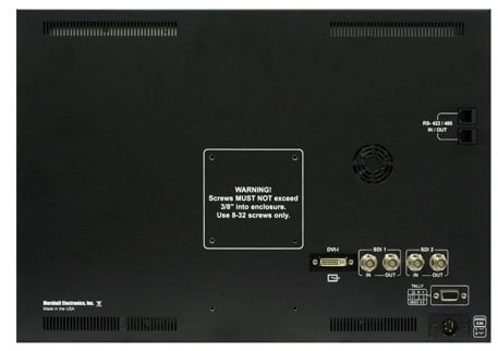 "18.5"" Desktop and Rackmount Dual Link / Waveform Monitor with In-Monitor Display"