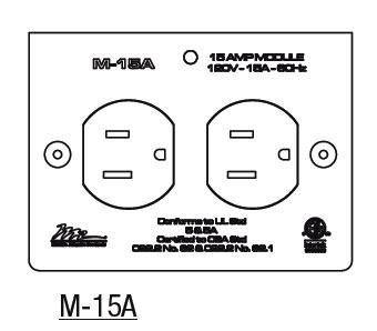 15 Amp MPR Duplex Module