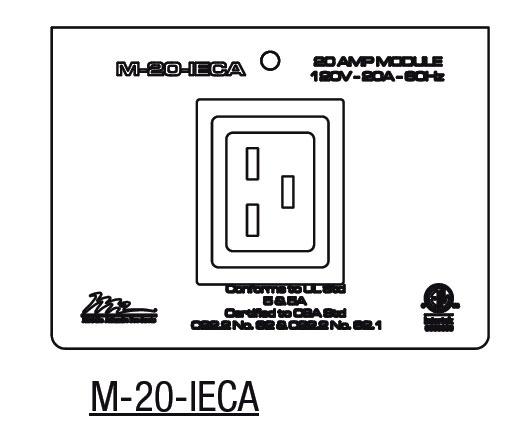 20 Amp 1-gang MPR IEC Module